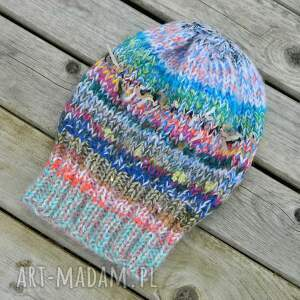 ciekawe czapki pojedyncza czapa boho mix multicolor
