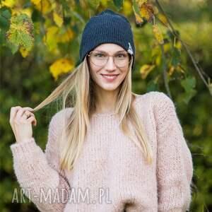 handmade czapka na jesien czapa dwustronna logo kolorowe cool