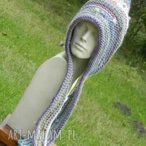 czapki baśniowa czapa etno elf 100% wełna