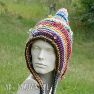 oryginalne czapki czapa etno elf 100% wełna
