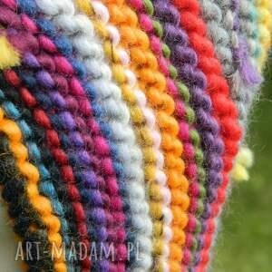 kolorowa kolorowe czapa etno elf 100% wełna
