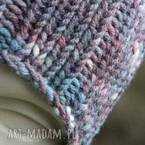 fioletowe czapki czapa fioletowy melan&#380