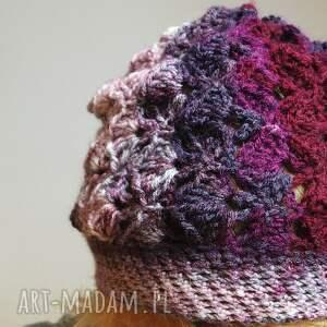beanie czapki czapa jesienna śliweczka
