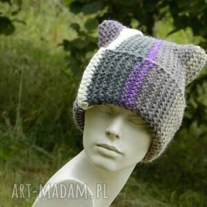 wywijana czapki kolorowe czapa rogata alpaca