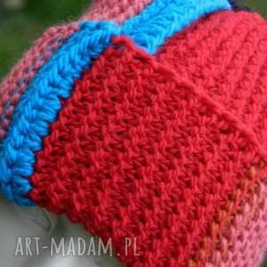 ciepła czapki kolorowe czapa rogata alpaca wywijana