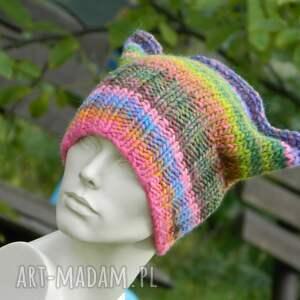 rogata czapki kolorowe czapa rogaty melanż