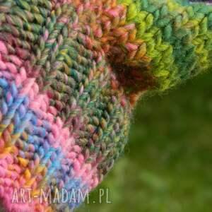 różowe czapki kolorowa czapa rogaty melanż