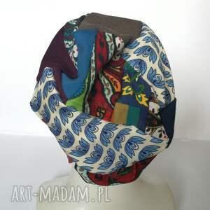 czapki etno czapka boho kolorowa damska