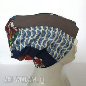 Ruda Klara frapujące etno czapka boho kolorowa damska