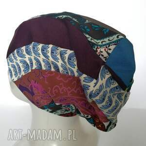 frapujące czapki etno czapka boho kolorowa damska