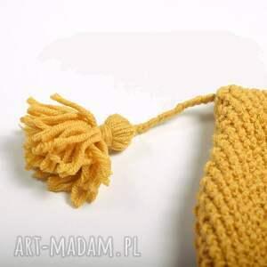 Molito oryginalne czapki zimowa wykonana ręcznie na drutach czapka bonetka