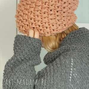 ręczne wykonanie czapki czapa bezszwowa czapka wykonana na drutach grubym