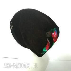 niepowtarzalne czapki czapka czarna damska kolorowa