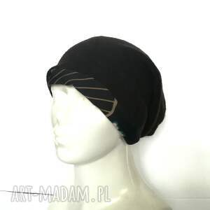 czapki damska czapka czarna kolorowa