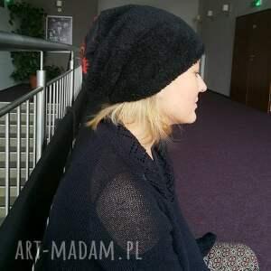 czapki futerko czapka czarna sztuczny miś