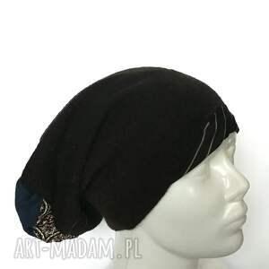 damska czapki czapka czarna kolorowa