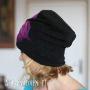 atrakcyjne czapki wełna czapka czarna wełniana
