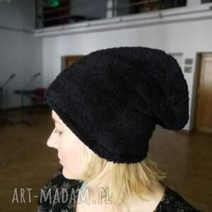 czapki miś czapka czarny ciepły