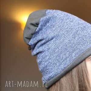 czapki damska czapka męska unisex melanż
