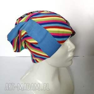 czapki czapka damska kolorowa patchworkowa