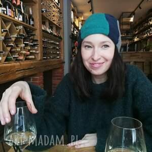 ludowa czapki czapka damska ciepła patchworkowa