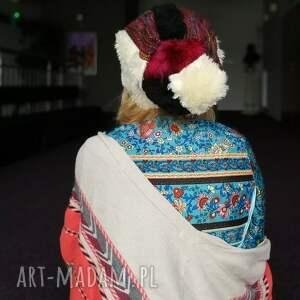czapki czapka damska patchworkowa kolorowa