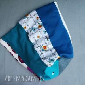 ręcznie zrobione czapki etno czapka damska szyta patchworkowo