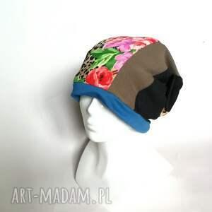 gustowne czapki czapka damska kolorowa smerfetka