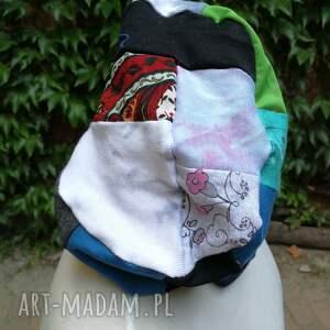 niekonwencjonalne czapki czapka damska ciepła patchwork boho
