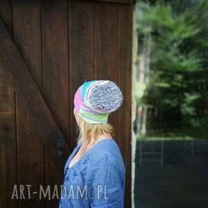 czapki czapka damska pastelowa dzianina