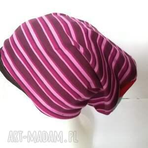 gustowne czapki czapka damska sportowa w paski