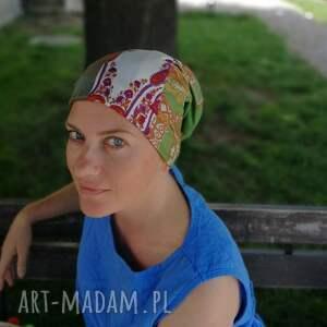 czapki czapka damska na podszewce szyta patchworkowo