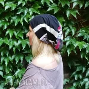 eleganckie czapki czapka damska szyta patchworkowo