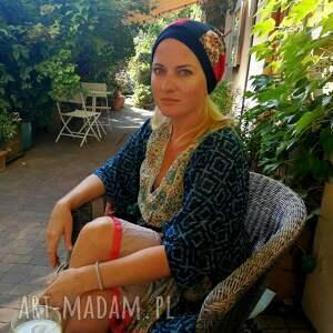 hand made czapki czapka damska dziewczęca patchworkowa kolorowa