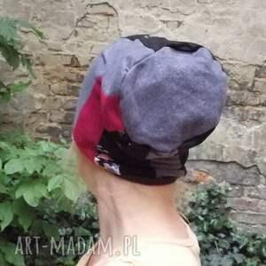 etno czapki czapka damska patchworkowa ciepła