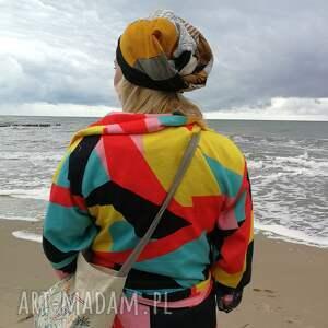 etno czapka czapki damska patchworkowa