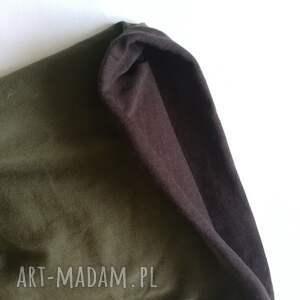 etno czapki czapka damska zielona w liski wiosenna - box