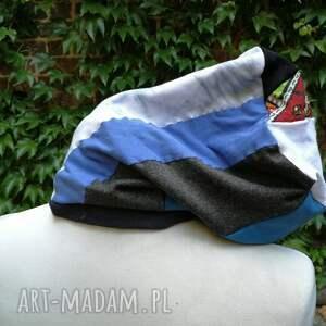 etno czapki czapka damska ciepła patchwork boho