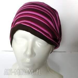 etno czapki czapka damska sportowa w paski