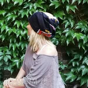 folk czapki czapka damska szyta patchworkowo