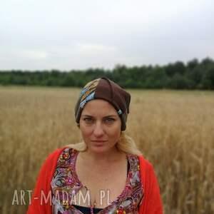 etno czapki czapka damska ciepła zimowa