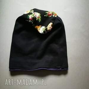 czapka czapki kolorowe damska przejściówka bawełna