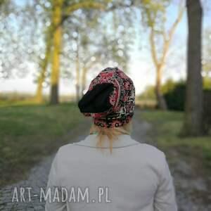 niepowtarzalne czapki cekiny czapka damska boho wiosenna
