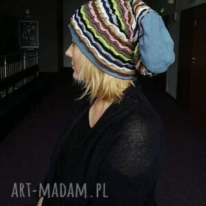 czapki dzianina czapka damska materiał