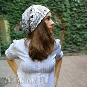 czapki etno czapka damska w misie smerfetka