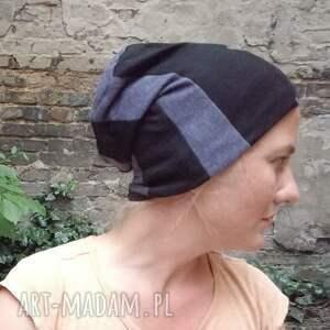 czapki etno czapka damska patchworkowa ciepła miękka - box