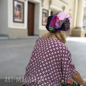 czapki etno czapka damska patchworkowa boho - box x1