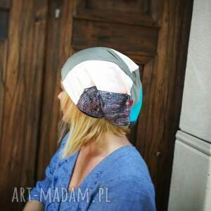 czapki etno czapka damska patchworkowa boho