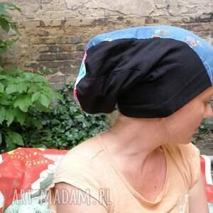 etno czapka damska patchworkowa kolorowa