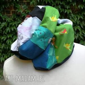 czapki etno czapka damska ciepła patchwork boho